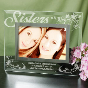 Sisters Personalized Glass Picture Frame | Personalized Picture Frames