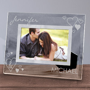 Engraved Just the Two Of Us Glass Picture Frame | Personalized Picture Frames