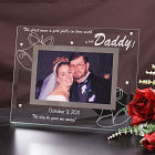 Engraved Wedding Glass Picture Frame