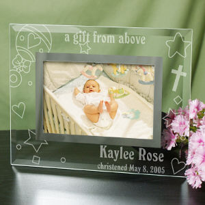 New Baby Glass Personalized Picture Frame | Baby Frames