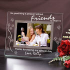Engraved Friends Glass Picture Frame