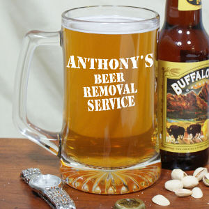 Engraved Beer Removal Service Glass Mug