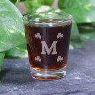 Engraved Shamrock Shot Glass 239565