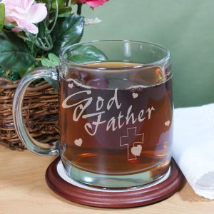 Engraved Godfather Glass Mug