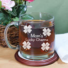 Engraved Lucky Charms Glass Mug