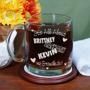 Engraved It's All About Glass Mug