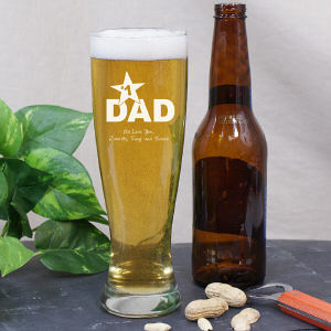 Engraved Pilsner Glass for Dad