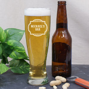 Engraved Bar Pilsner Glass