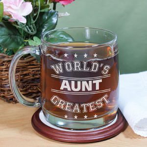 Engraved World's Greatest Glass Mug