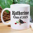 Diploma Rose Class Of Personalized Graduation  Coffee Mug