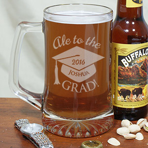 Engraved Graduation Glass Mug