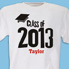 Graduation Cap Class Of Personalized Graduation T-shirt