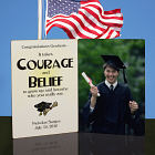Courage and Belief Personalized Photo Bi-Fold Keepsake Plaque