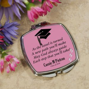 Personalized Graduation Compact Mirror