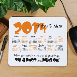 Tie A Knot Calendar Personalized Mouse Pad