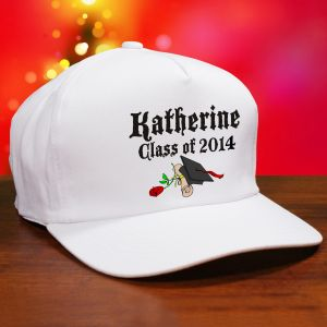 Diploma Rose Class Of Personalized Graduation Hat