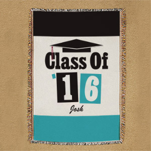 Personalized Class Of Graduation Tapestry Throw Blanket