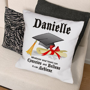 Personalized Graduation Throw Pillow