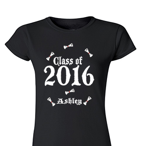 Personalized Class Of Graduation Womens T-Shirt