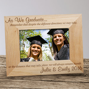 Engraved Grad Friends Picture Frame