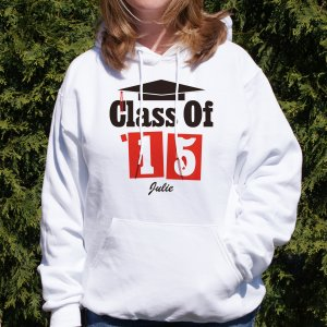 Personalized Graduation Hooded White Sweatshirt
