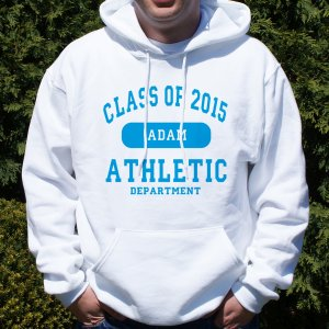 Personalized Class of...Athletic Graduation Hooded Sweatshirt