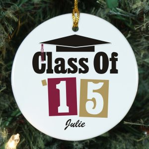 Personalized Ceramic Ornament for Graduation