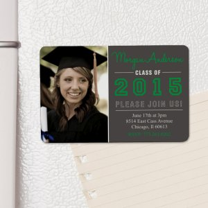 Personalized Graduation Photo Invitation Magnet