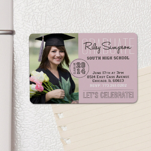 Personalized Class Of Graduation Photo Invitation Magnet