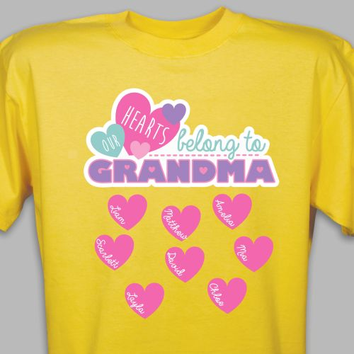 Custom Printed Grandma T-Shirt | Personalized Grandma Shirts