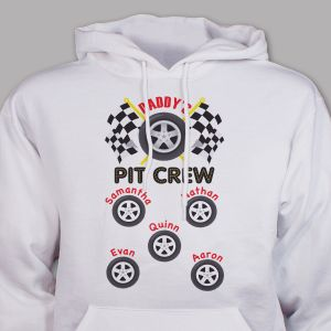 Custom Printed Pit Crew Hooded Sweatshirt