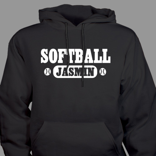 Personalized Softball Hooded Sweatshirt  H52562X