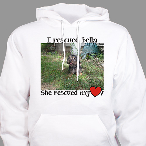 Personalized Rescued Pet Photo Hooded Sweatshirt H56612X