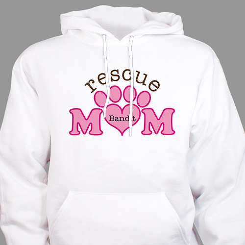 Personalized Rescue Mom Hooded Sweatshirt H56617X