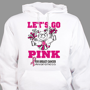 Personalized Go Pink Breast Cancer Hooded Sweatshirt H57876X