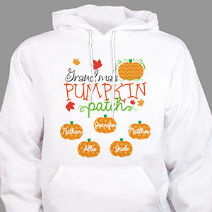 Personalized Pumpkin Patch Hooded Sweatshirt | Personalized Halloween Shirts