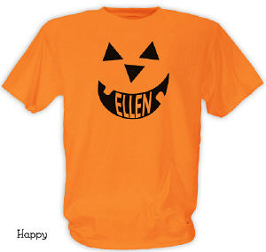 Pumpkin Face Halloween Orange T-shirt