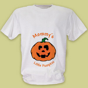 Personalized Mommy's Little Pumpkin Maternity T-Shirt