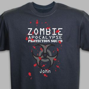 Personalized Zombie Halloween T-Shirt