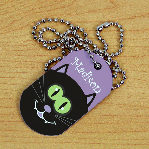 Personalized Halloween Dog Tag | Personalized Kids Necklace