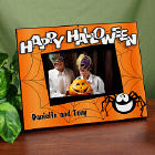 Personalized Happy Halloween Picture Frame