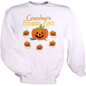 Personalized Pumpkin Patch Sweatshirt