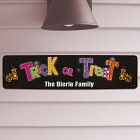 Trick or Treat Halloween Metal Sign