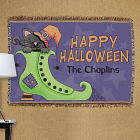 Personalized Happy Halloween Tapestry Throw Blanket