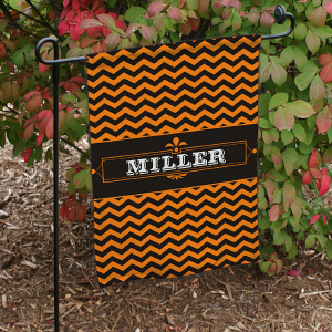 Personalized Halloween Family Garden Flag