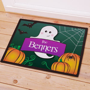 Personalized Halloween Ghost Welcome Doormat