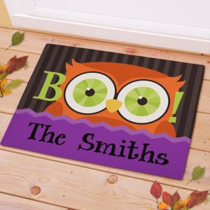 Personalized Halloween Owl Doormat