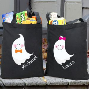 Personalized Halloween Ghost Trick or Treat Bag 867692BK