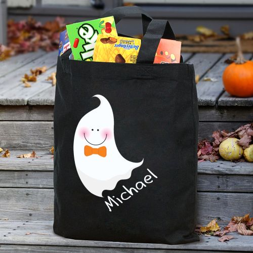 Personalized Halloween Ghost Trick or Treat Bag | Personalized Trick-Or-Treat Bags