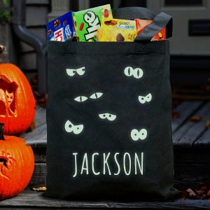 Personalized Glow In The Dark Halloween Bag